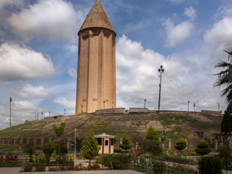 Gonbade Kaboos Tower in Golestan Province