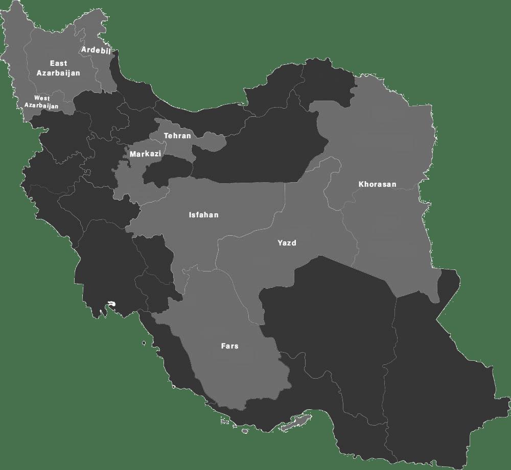 Iran 30 Provinces Map