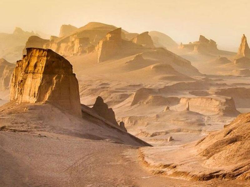Lut Desert in South Khorasan, Kerman and Sistan, and Baluchestan province