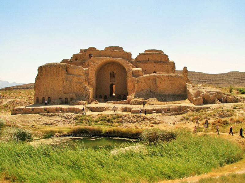 The Historical sight from the Sasanian era in Fars Province