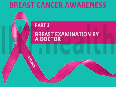 breast examination by a doctor